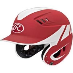 Rawlings Velo Series Junior 2-Tone Away Batting Helmet, Red