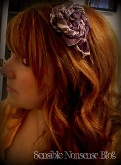 Use your favorite silk scarf as a rosette... without damaging it! Check out this tutorial!