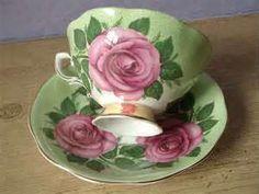 vintage tea set roses - Search