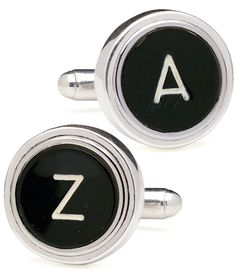 Vintage Typewriter Key Cufflinks - stylish and unique!                                                                                                                                                                                 More