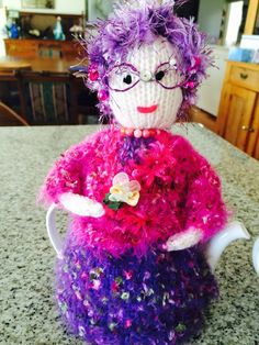 The 'Dame Nellie Melba' Knitted Tea Cosy from the Marianne Collection.