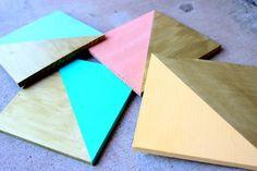 DIY home crafts DIY Geometric Coasters DIY home crafts
