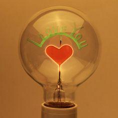Incandescent Bulbs Sunflower/Rose/love u  Shaped new style creative type Decorative Edison Light Bulb 220V 3w E27