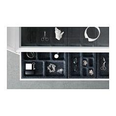 IKEA - KOMPLEMENT, Ausziehboden mit Einsatz, 100x58 cm, , Inklusive 10 Jahre Garantie. Mehr darüber in der Garantiebroschüre.Ausziehbarer Boden für gute Übersicht und schnellen Zugriff.Schließt sich langsam, sanft und geräuschlos durch integrierten Dämpfer.Der Einsatz erleichtert das ordentliche Verwahren von Sonnenbrillen, Uhren und anderen kleinen Gegenständen.Weicher Filz schützt Accessoires und hält sie am Platz.