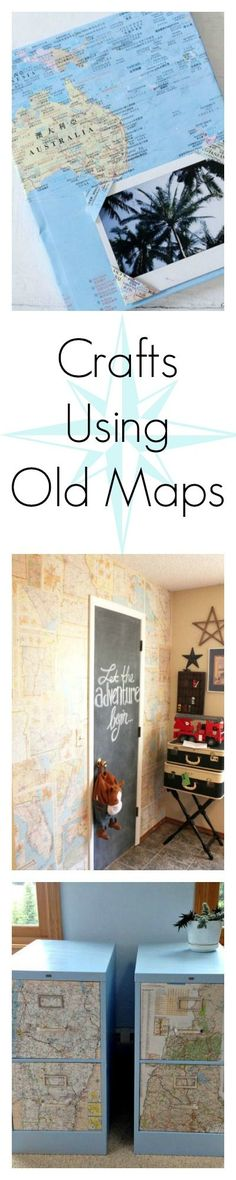 These crafty ideas that repurpose old maps around your house will infuse your home with a sense of wanderlust.