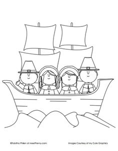 Plimoth Plantation and Wampanoag coloring pages