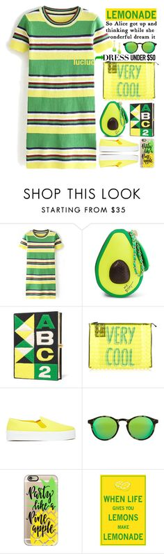 """prety lemonade yellow green dress"" by licethfashion ❤ liked on Polyvore featuring Betsey Johnson, Olympia Le-Tan, Pleats Please by Issey Miyake, Our Family, Kyme, Casetify, Donatella Pellini, polyvoreeditorial, licethfashion and Dressunder50"