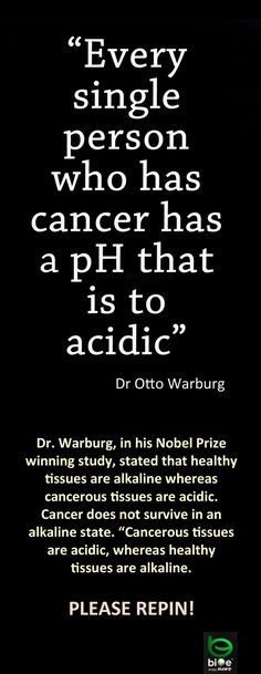 Cancer-Proof Your Diet. -- Dr. Otto Warburg From: brutallyfrank.files.wordpress.com Paying attention to the PH of food really is the cutting age of nutrition. Check the list of Alkaline Foods ~