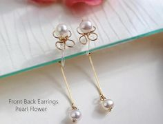 Front Back Clip OnDouble Side Clip OnGold Pearl Clip