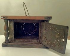 Early American Primitive Antique Foot Warmer 1800's