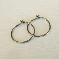 Small Niobium Hoop Earrings Nickel Free Silver Color Hoops Hypoallergenic For Sensitive Ears