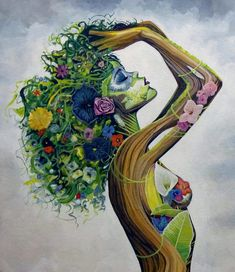 Be naturally and authentically you. *I do not own rights to this beautiful art* Art Du Croquis, Goddess Art, Afro Art, Art And Illustration, Psychedelic Art, Black Art, Love Art, Female Art, Art Pictures
