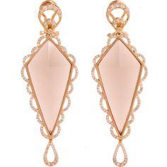 Deborah Pagani Grey Diamond & Moonstone Small Pyramid Crescent Earrings Photo courtesy of Barney's