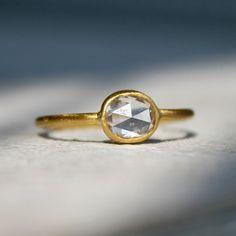 .8 carat rose cut oval diamond