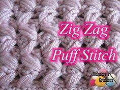 Zig Zag Puff Stitch - Crochet Tutorial