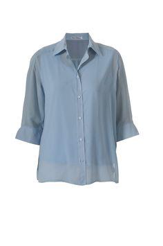 Sky blue chiffon blouse