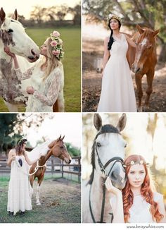 Inspiration: Boho Brides with Horses