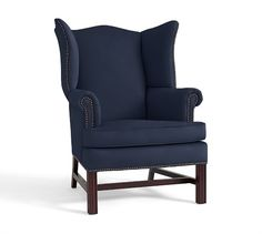 I'd love to re-upholster our wingback chairs like this ... http://www.potterybarn.com/products/thatcher-upholstered-wingback/?pkey=call-living-family-room