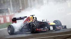 Sebastian Vettel celebrates his 4th championship