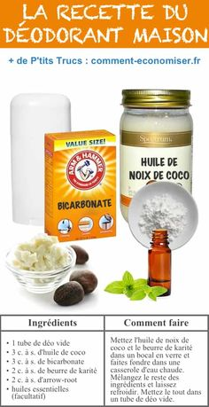 Geschenkideen Homemade Deodorant -- 22 Everyday Products You Can Easily Make From Home (for less Deodorant Recipes, Homemade Deodorant, Cleaners Homemade, Natural Deodorant, Homemade Beauty, Diy Beauty, Baking With Coconut Oil, Cleaning Recipes, Cleaning Hacks