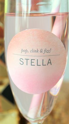 watercolor bridal shower custom labels
