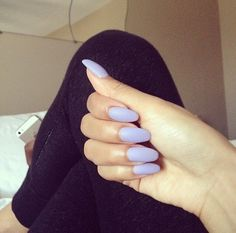 Lilac. - I actually don't mind the shape of the nails with this color, but they would have to be shorter for me :)