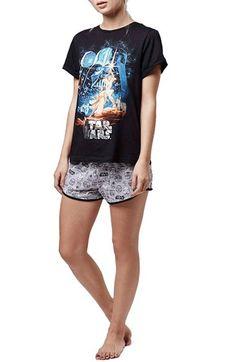 Topshop Star Wars Pajama Tee & Shorts available at #Nordstrom