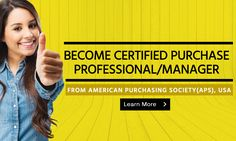 Become Certified Purchase Professional/Manager