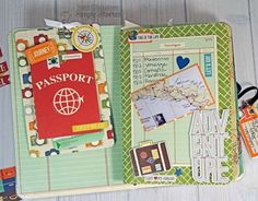 Traveler's Notebook created by creative team member Tara Chausse featuring the Travel Notes Collection