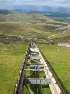 Railway track at the Cairngorm Mountain s (Scotland)