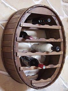 http://ift.tt/1UT6KLc Weinregal Weinfass zum hängen für 18 Flaschen Braun Bar Flaschenhalter Fass Wandregal @inilo#$
