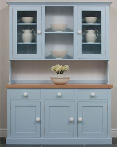 Free standing painted kitchen dressers kitchen larders For the