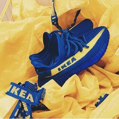 Okay this is the last one - we promise! @mache275 turned the IKEA yeezys into reality! Would you wear them? by @mache275 #sneakersmag #adidas #ikea #yeezy