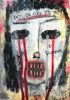 Art makes me happy. Expression makes me happy. The more I am able to express myself through art, the less I feel like I have to put on a happy mask. Happiness is only truthful if you also have the freedom to be unhappy.
