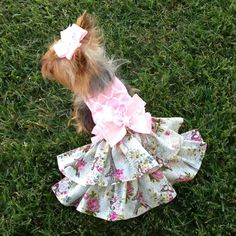 Meet Me in Paris Dog Dress Customizable to by Rufflesforcharli