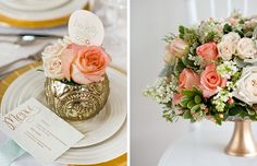 Peach & Gold Glamour Styled Shoot | Rachel Peters Photography | As seen on WellWed