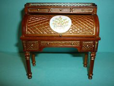 JIA YI DOLLS HOUSE LOUIS XVI ROLLTOP DESK ,CHAIR AND TABLE 12TH SCALE NEW | eBay