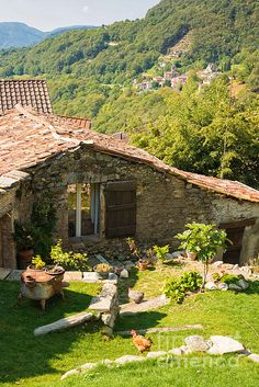Old Stone House in Ticino ( Tessin )_ Switzerland Switzerland House, Beautiful Homes, Beautiful Places, Old Stone Houses, Cabins And Cottages, Village Houses, Cottage Homes, Exterior Design, Future House