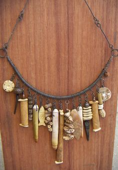 Copper Wrap Necklace with Natural Treasures