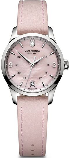 @vxswissarmy  Watch Alliance Small #bezel-fixed #bracelet-strap-leather #brand-victorinox-swiss-army #case-material-steel #case-width-30mm #classic #date-yes #delivery-timescale-call-us #dial-colour-pink #gender-ladies #movement-quartz-battery #official-stockist-for-victorinox-swiss-army-watches #packaging-victorinox-swiss-army-watch-packaging #style-dress #subcat-alliance #supplier-model-no-241663 #warranty-victorinox-swiss-army-official-3-year-guarantee #water-resistant-100m