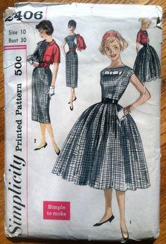 1960's Simplicity Junior's Princess Dress Pattern