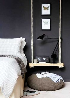 Un chevet déco original à faire soi-même pour la chambre
