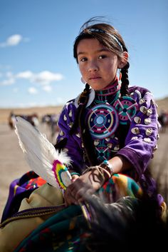 Crow Girl at the Crow Fair, Crow Indian Reserve, Montana, USA