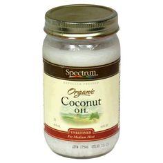 Amazon.com: Spectrum Coconut Oil, Organic Unrefined, 14 Ounce Tub (Pack of 3): Health & Personal Care