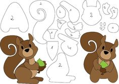 felt or foam animals Felt Animal Patterns, Felt Crafts Patterns, Paper Piecing Patterns, Stuffed Animal Patterns, Stuffed Animals, Applique Templates, Applique Patterns, Origami Art, Felt Toys