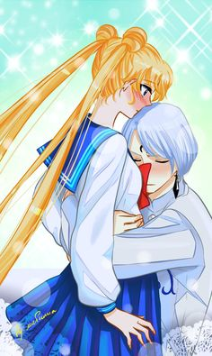 Sailor Moon - Prince Demande x Usagi Tsukino Arte Sailor Moon, Sailor Moom, Sailor Moon Fan Art, Sailor Moon Usagi, Sailor Moon Crystal, Sailor Moon Drops, Princesa Serenity, Neo Queen Serenity, Dark Power