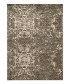 Another great find on #zulily! Taupe Journey Wool Rug #zulilyfinds