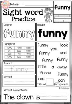 Free Sight Word Practice. These are FREE samples from my Sight Word Practice Bundle. These sight word practice pages are perfect for Kindergarten and first graders. These sight word pages help children to learn sight word by reading, tracing, writing, coloring, finding and counting. These pages are also perfect for classroom activities, morning work, word work and literacy centers. Preschool  | Kindergarten | Kindergarten Worksheets | First Grade |  Sight Word Free Lessons