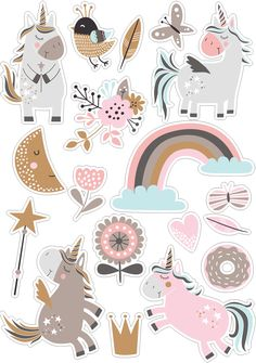 Beautiful wallpaper for mobile. Beautiful wallpaper for mobile. Journal Stickers, Printable Planner Stickers, Printables, Tumblr Stickers, Cute Stickers, Doodles, Illustration, Aesthetic Stickers, Unicorn Party