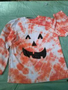 Pumpkin Halloween tie dye shirt...2013